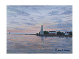 Old Saybrook Light Giclee Print by Bruce Dumas