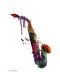Saxophone 2 Giclee Print by Mark Ashkenazi