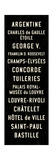 Paris Transit Sign Giclee Print by Michael Jon Watt