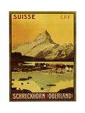 Schreckhorn Oberland Swiss 1906 Giclee Print