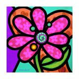 Pinwheel Daisy Pink Giclee Print by Steven Scott