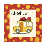 School Bus Giclee Print