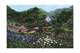 Romantic Cottage Giclee Print by Bonnie B. Cook