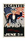Register June 5th, 1917, WWI Giclee Print