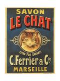 Savon Le Chat Giclee Print