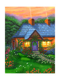Rose Cottage Giclee Print by Bonnie B. Cook