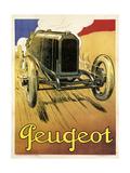 Peugeot Vint Car 1919 Giclee Print