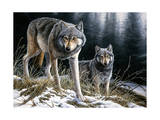 Over the Ridge Wolves Giclee Print by Jeremy Paul