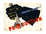 Production, America's Answer! Giclee Print
