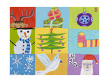 Nine Christmas Squares Giclee Print by Nathaniel Mather