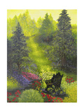 Peaceful Garden Giclee Print by Bonnie B. Cook