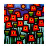 Poppy Field Giclee Print by John Nolan