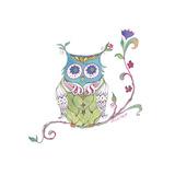 Owl Branch Giclee Print