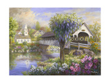Picturesque Covered Bridge Impression giclée par Nicky Boehme