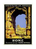Rome Express Rome, Par le Train de Luxe Wydruk giclee