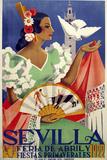 Sevilla 1922 Giclée-tryk
