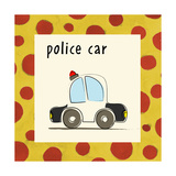 Police Car Giclee Print