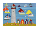 Sailing at Lighthouse Beach Giclee Print by Gordon Barker