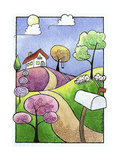 The Little Cottage Giclee Print by Sandra Willard