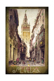 Sevilla Street Scene Giclee Print