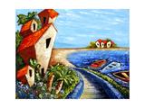 Ocean Village Giclee Print by Oscar Ortiz