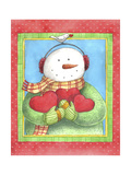Snowman Give Heart Giclee Print by Melinda Hipsher