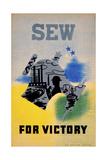 Sew for Victory Giclee Print