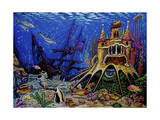 Underwater World Giclee Print by Martin Nasim