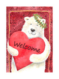 Polar Bear Heart Welcome Giclee Print by Melinda Hipsher