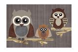 Owls Giclee Print by Erin Clark