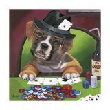 Poker Dogs 2 Giclee Print by Jenny Newland