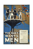 The Navy Wants Men Giclee Print
