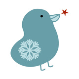 Snowflake Bird Giclee Print by Carla Martell