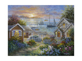 Tranquil Seafront Giclee Print by Nicky Boehme