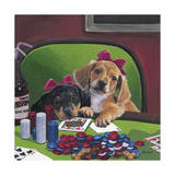 Poker Dogs 3 Giclee Print by Jenny Newland