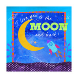 To the Moon Giclee Print by Fiona Stokes-Gilbert
