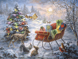 Tis' the Night before Xmas Giclée-tryk af Nicky Boehme