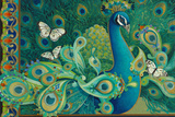 Paisley Peacock Giclée-tryk af David Galchutt