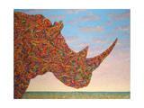Rhino-Shape Giclee Print by James W. Johnson