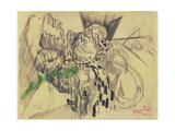 Study with Green Giclee-trykk av Frantisek Kupka