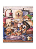 Suds and Pups Giclee Print by Jenny Newland