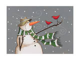 Snowman Giclee Print by Margaret Wilson