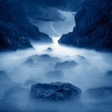 Tormenta en ixtapa Blue Photographic Print by Moises Levy