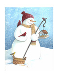 Snowman Red Hat Giclee Print by Melinda Hipsher