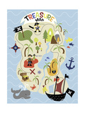 Treasure Map Giclee Print by Erin Clark