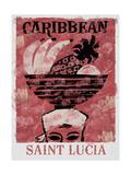 Saint Lucia Gicléetryck