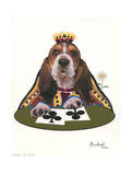 Queen of Clubs Giclee Print by Jenny Newland