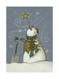 Snowman at Rest Giclee Print by Margaret Wilson