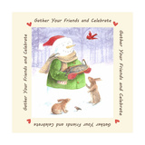 Snowman Friends Giclee Print by Melinda Hipsher