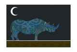 Rhino Giclee Print by Teofilo Olivieri